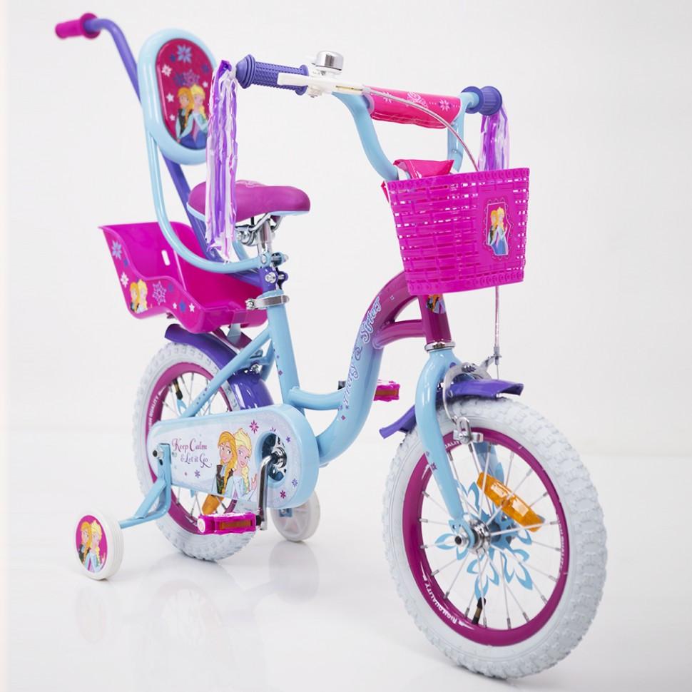 """Детский велосипед PRINCESS-2 Frozen Ice 14"""" для девочек от 3 до 6 лет"""