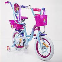"""Детский велосипед PRINCESS-2 Frozen Ice 14"""" для девочек от 3 до 6 лет, фото 1"""