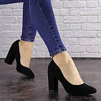 Женские черные туфли на каблуке Cassidy 1563 (36 размер)