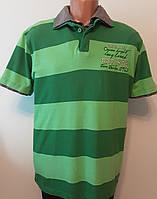 Чоловіча Сорочка-поло зелена смугаста ХL «Tom Tailor» (Німеччина)