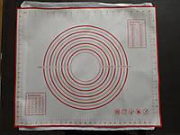 Коврик силиконовый кулинарный на тканевой основе 40 х 50 см.