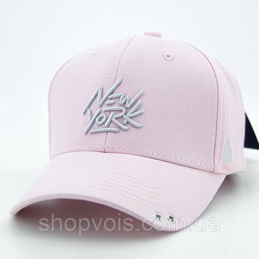 Кепка женская New York WV38 Бейсболка Розовая