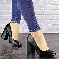 Туфли женские на каблуке черные Cahill 1521 (36 размер)