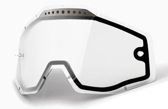 Подвійна лінза 100% RACECRAFT/ACCURI/STRATA Vented Dual Pane Lens Anti-Fog - Clear