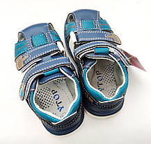 Детские босоножки сандалии для мальчика синие Y.TOP 25р 15.5см, фото 2