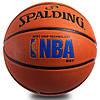 Мяч баскетбольный резиновый №7 SPALDING 83192Z LOGOMAN SOFT GRIP OUTDOOR (резина, бутил, оранжевый)