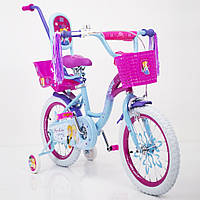 """Детский велосипед PRINCESS-2 Frozen Ice 16"""" для девочек от 4 до 7 лет"""