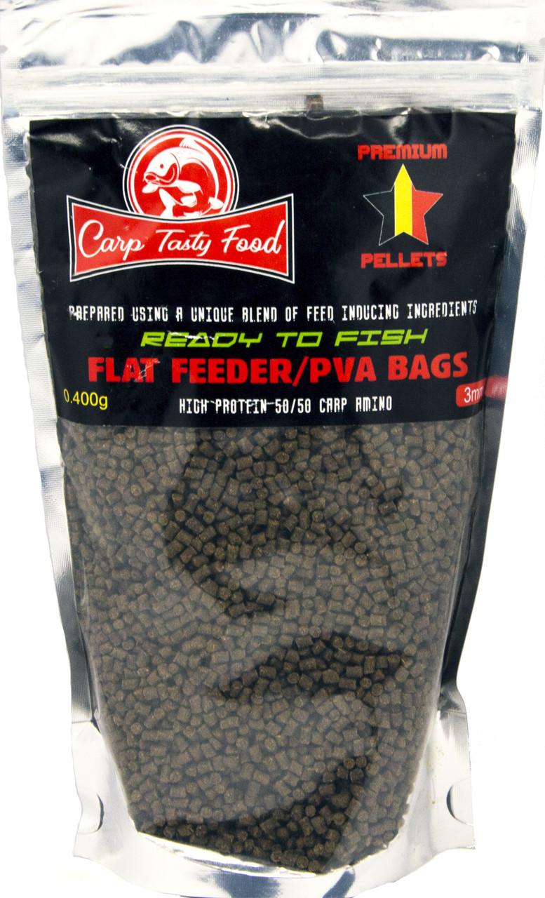 Пеллетс Carp Tasty Food Premium Flat Feeder/PVA bags 0.3mm 400гр