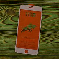 Защитное премиум стекло на экран Iphone 7 Plus / 8 Plus БЕЛОЕ клей по всей поверхности