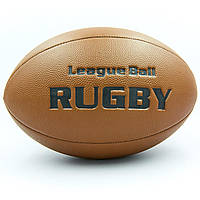 Мяч для регби RUGBY Liga ball RG-0392 (PU, р-р 9in, коричневый)