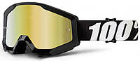 Мотоочки 100% STRATA Goggle Outlaw - Mirror Gold Lens