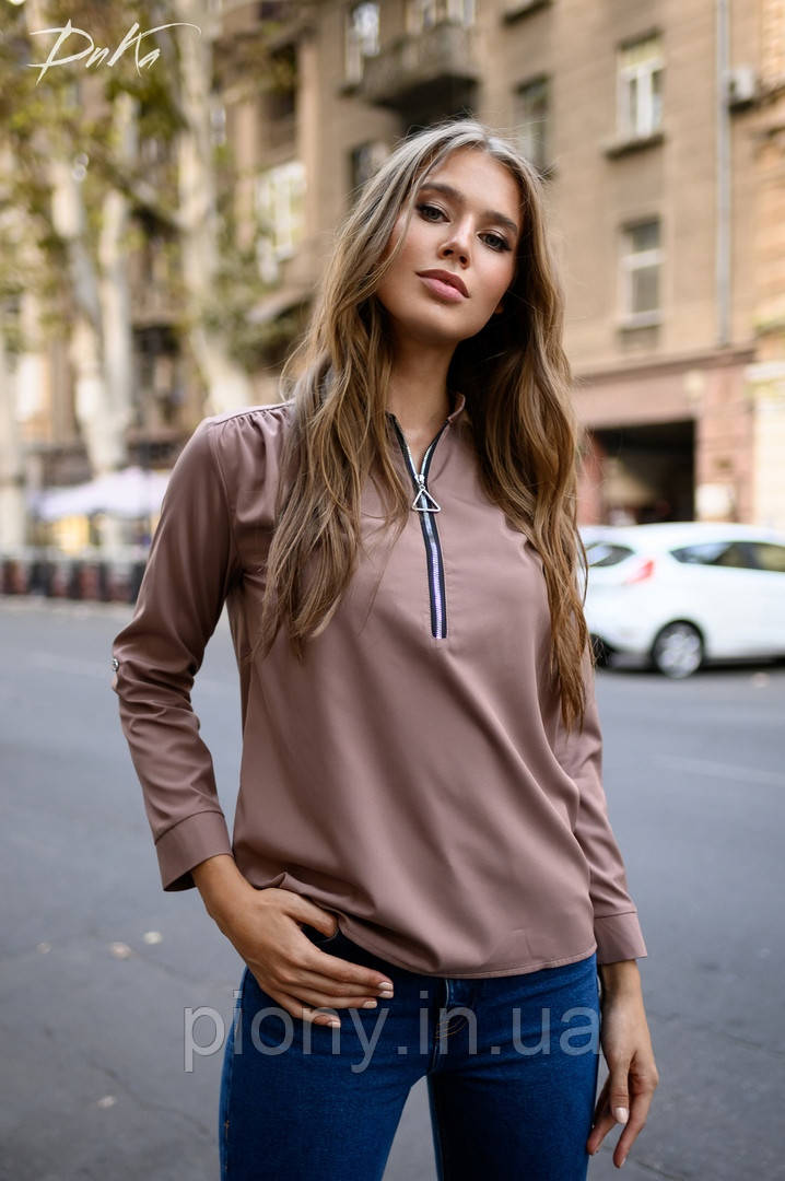 Женская Блуза на молнии