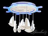 Потолочная LED-люстра с диммером и цветной подсветкой 8162/500WH LED dimmer, фото 3