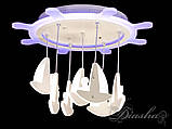 Потолочная LED-люстра с диммером и цветной подсветкой 8162/500WH LED dimmer, фото 4