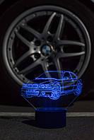 3d-светильник БМВ, BMW, 3д-ночник, несколько подсветок (батарейка+220В)