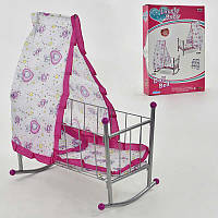Кроватка для кукол FL-991 с балдахином Разноцветный 2-991-27592, КОД: 972756