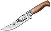 Нож охотничий ручной работы разделочный; ударопрочный клинок;  кожанные ножны; подарочный, фото 2