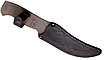 Нож охотничий ручной работы разделочный; ударопрочный клинок;  кожанные ножны; подарочный, фото 3