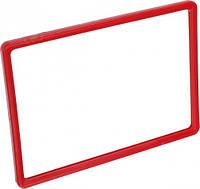 Рамка пластиковая ценникодержатель формата A4 красная информационная табличка