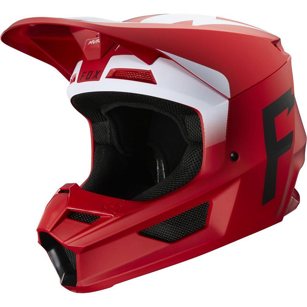 Мотошлем FOX V1 WERD HELMET FLAME RED