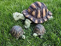 """Садовая фигура """"Черепахи семейка №1"""". декоративная садовая фигура."""