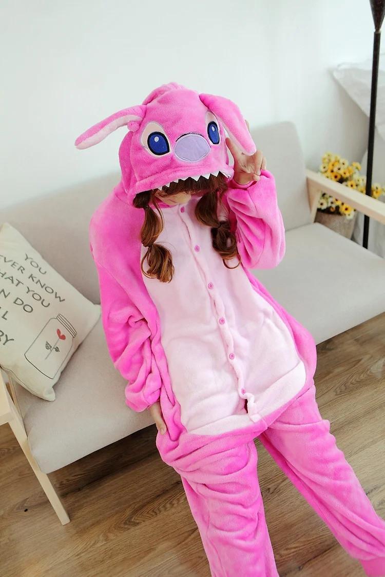Пижама кигуруми Стич Розовый MNC krd0123