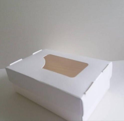 Упаковка для суши белая (с окном) 100х190х55 мм