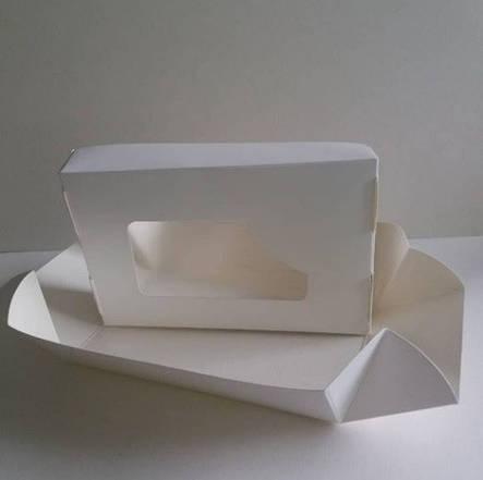 Упаковка для суши белая (с окном) 100х100х55 мм, фото 2