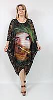 Легкое летнее платье свободного кроя Lamarkine Турция рр 58-62