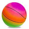 Мяч резиновый Баскетбольный LEGEND BA-1900 (резина, вес-200г, d-22см, радужный)