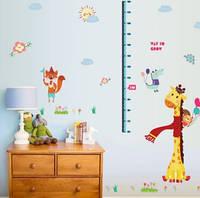 Детский ростомер с жирафом   (122х113см)