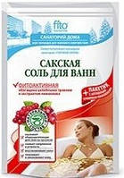 Сіль для ванн Сакська Фитоактивная 530г