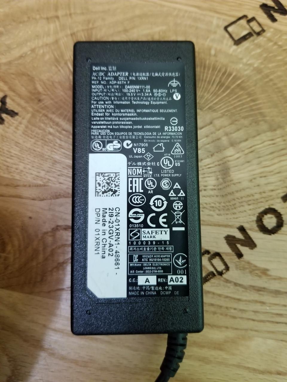 Блок питания для ноутбука DELL 65W 19.5V 3.34A 7.4x5.0mm (DA65NM111-00) ОРИГИНАЛ