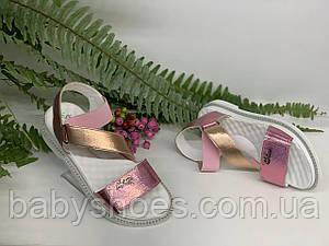 Кожаные босоножки для девочки Masheros  р.34-38  арт. 2121
