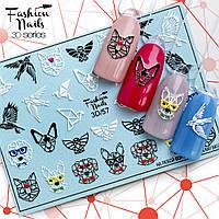 Декор для ногтей  Fashion Nails водные наклейки 3D слайдер-дизайн геометрия (3D/57)