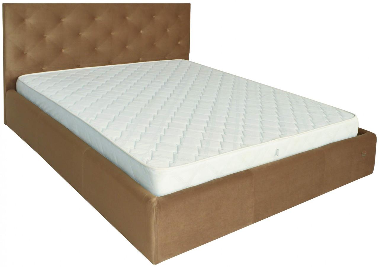 Кровать Richman Бристоль 140 х 190 см Missoni 004 Светло-коричневая