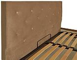 Кровать Richman Бристоль 140 х 190 см Missoni 004 Светло-коричневая, фото 3