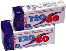 120/80 с дигидрокверцетином 80 табл.