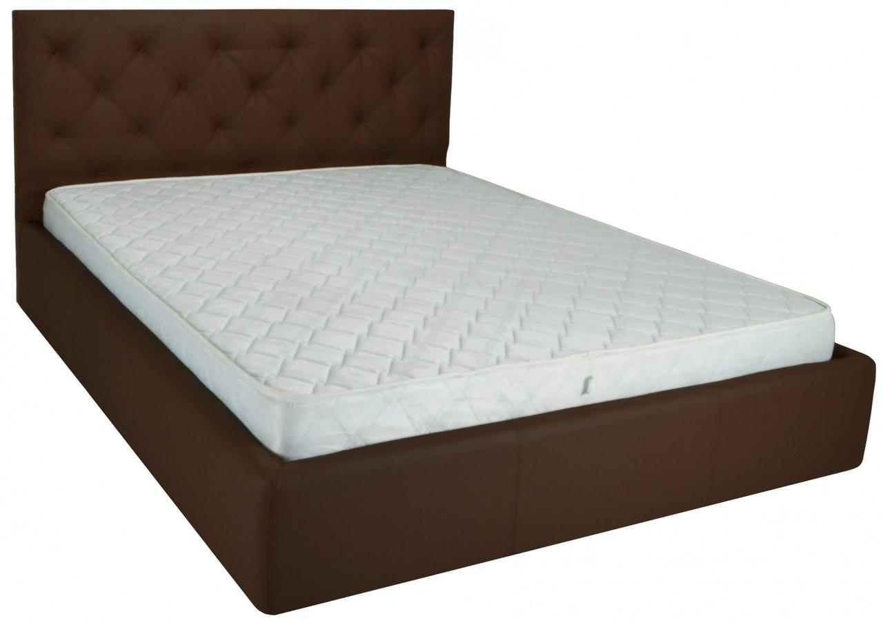 Кровать Richman Бристоль 140 х 200 см Флай 2231 A1 С подъемным механизмом и нишей для белья Темно-коричневая