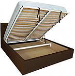 Кровать Richman Бристоль 140 х 200 см Флай 2231 A1 С подъемным механизмом и нишей для белья Темно-коричневая, фото 4