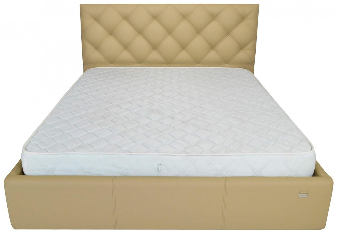 Ліжко Richman Брістоль 140 х 200 см Флай 2238 З підйомним механізмом і нішею для білизни Бежева