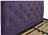 Кровать Двуспальная Richman Бристоль 160 х 200 см Missoni 022 Сиреневая, фото 3