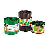 Бордюр газонный волнистый /зеленый/ 10 см x 9 м