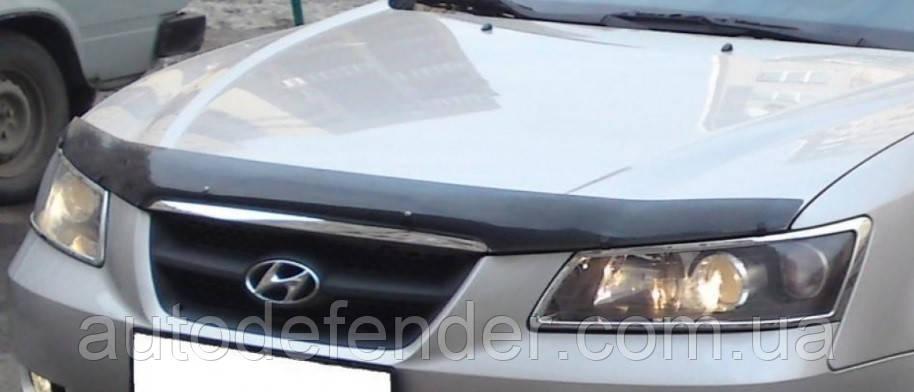 Дефлектор капота (Люкс!) мухобойка Hyundai Sonata NF 2005-2009, SIM, SHYNF0612