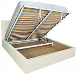 Кровать Двуспальная Richman Бристоль 180 х 190 см Флай 2200 A1 С подъемным механизмом и нишей для белья Белая, фото 4