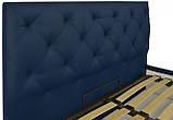 Кровать Двуспальная Richman Бристоль 180 х 190 см Флай 2227 Синяя, фото 3