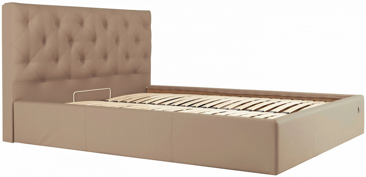 Кровать Двуспальная Richman Бристоль 180 х 200 см Флай 2213 Светло-коричневая (rich00195)