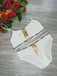 Комплект белья Lavolle топик и трусики лапша маломерка XL (40) молочный (8612)