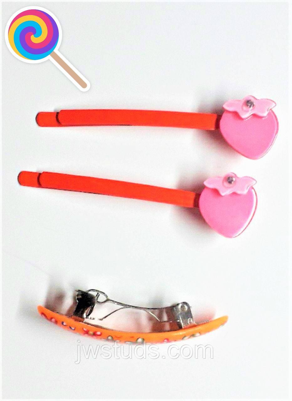 НАБОР Детский Заколки - невидимки для волос  + Автоматик для волос
