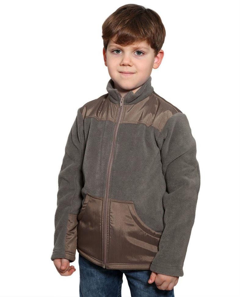 Кофта-куртка флісова для хлопчика (122-164 в кольорах)